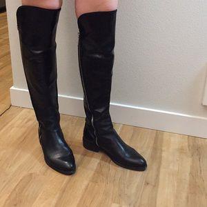 Donald J Pliner black over the knee boots